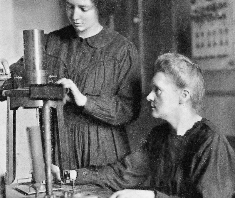 Irene y Marie Curie